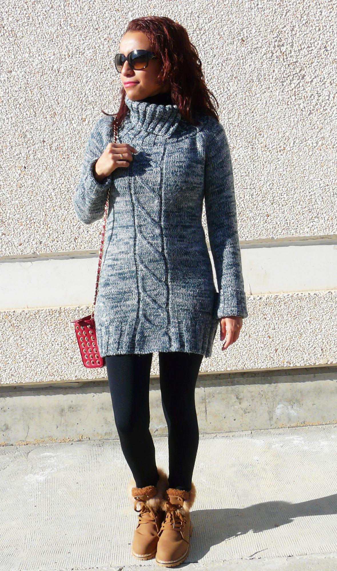 Vestidos de punto lana