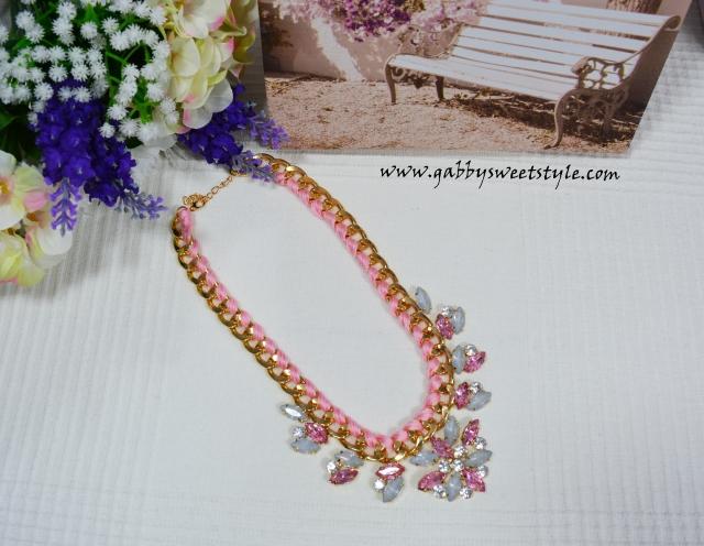 Collar prlas rosa