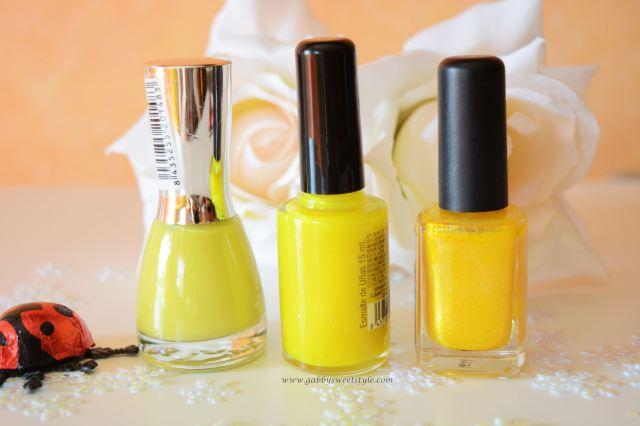 Esmaltes amarillos
