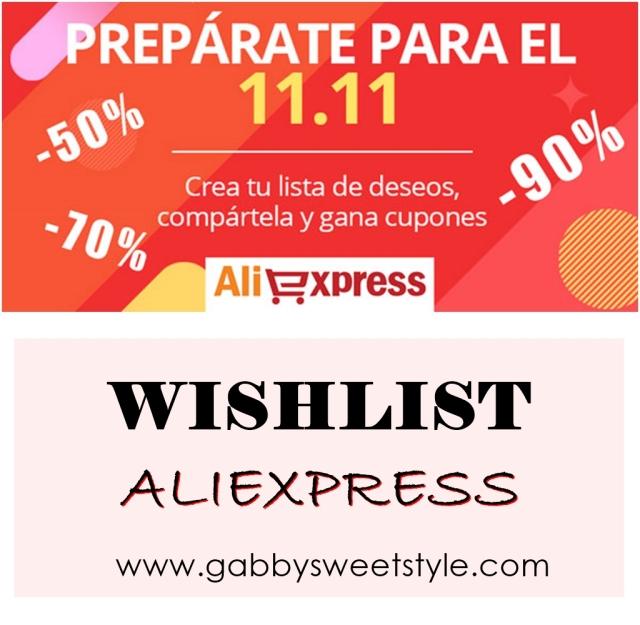 Lista de deseos Aliexpress