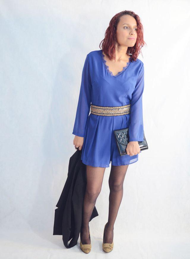 Look elegante con mono azul10