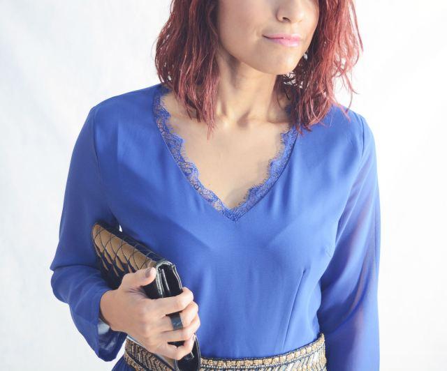 Look elegante con mono azul19