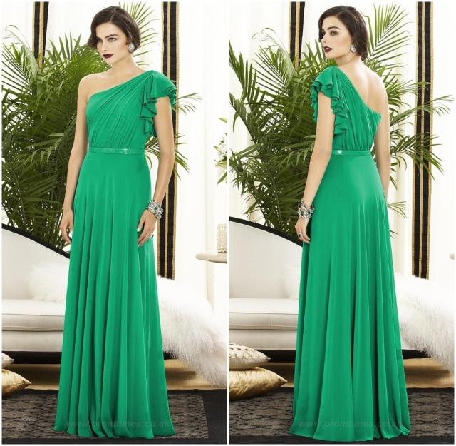 Vestido verde elegante 1