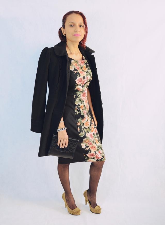Look con vestido de flores 3