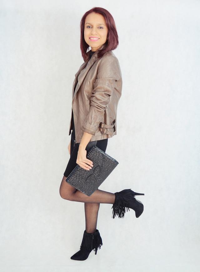 Look con vestido y flecos 3