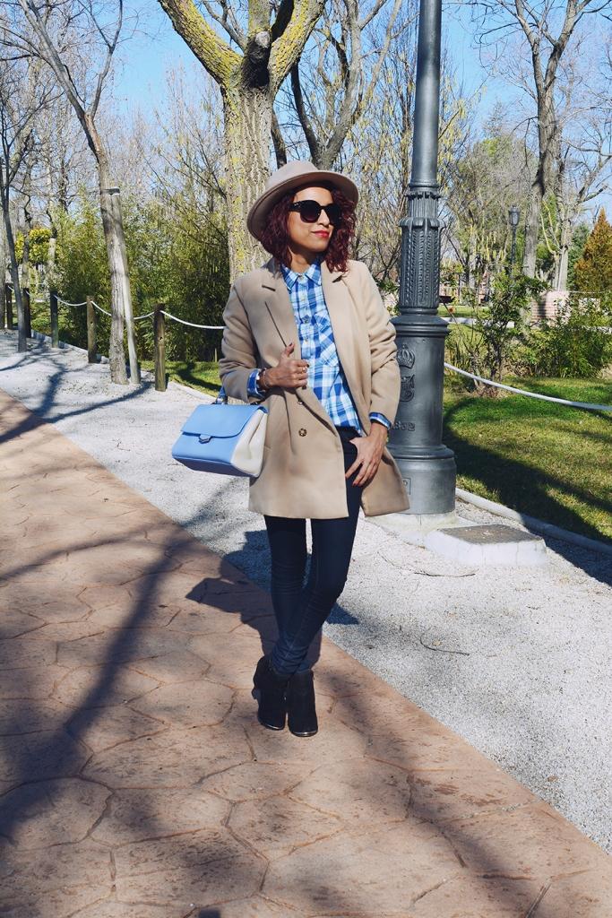 Look denim y abrigo camel 5