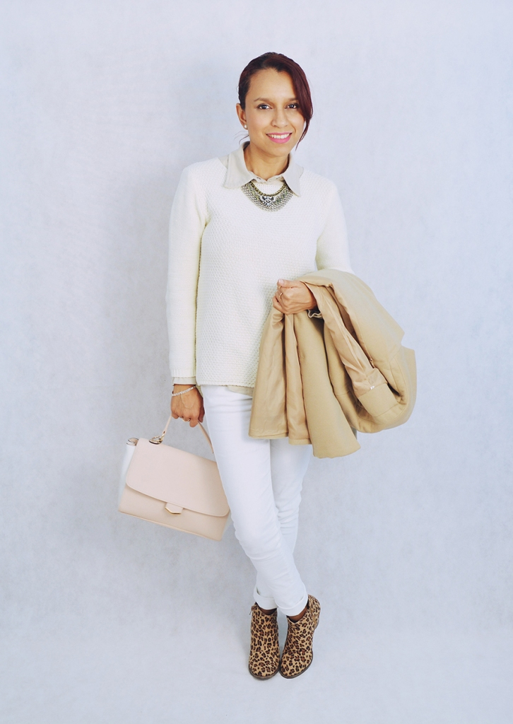 Look blanco y camel 5