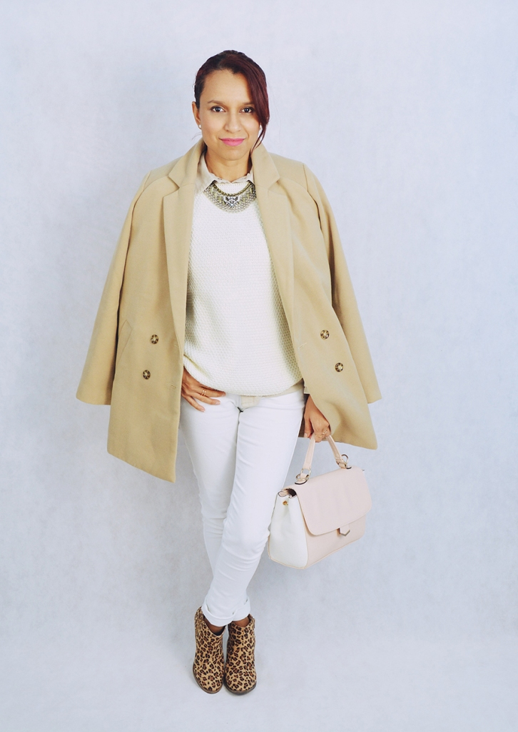 Look blanco y camel 6