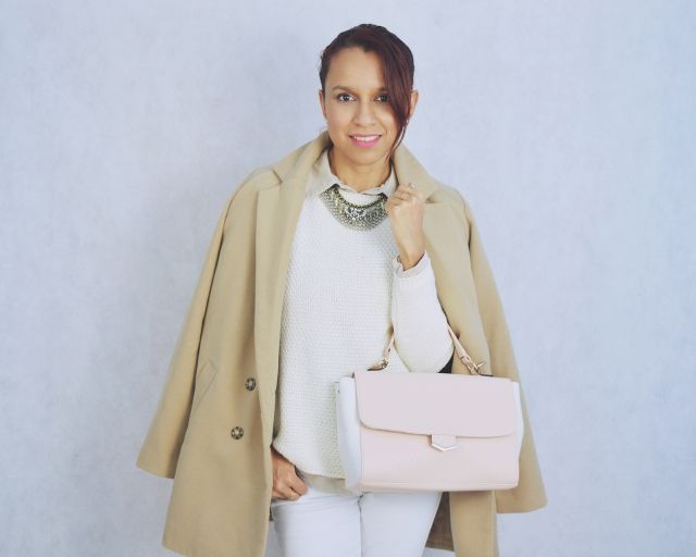 Look blanco y camel 9