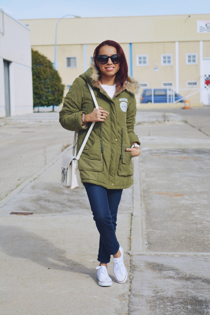 Look casual con parka 1