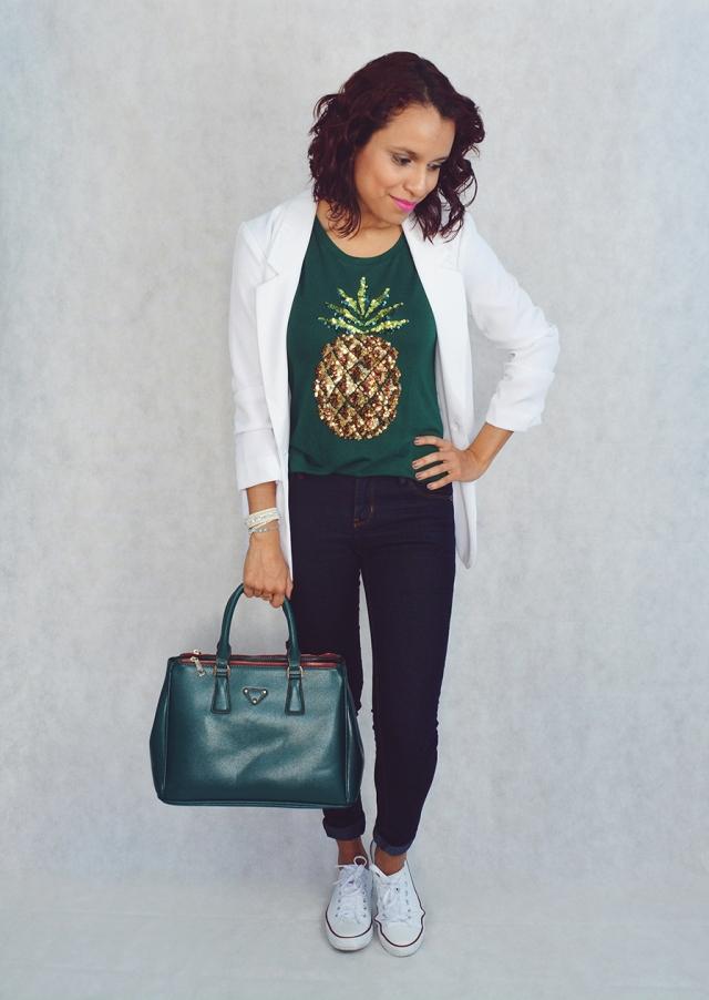 Look casual con camiseta estampada 4