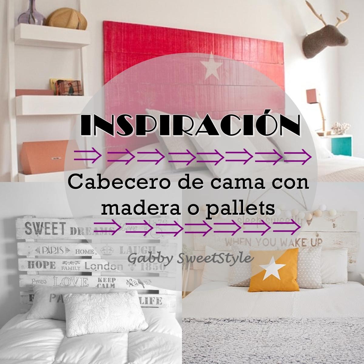 Inspiración: Cabecero de cama con madera o pallets