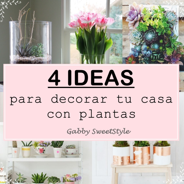 Cuatro ideas para decorar tu casa con plantas gabby for Ideas para decorar tu casa con plantas