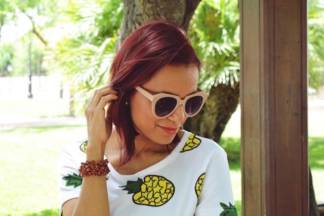 Falda y camiseta de piñas 10
