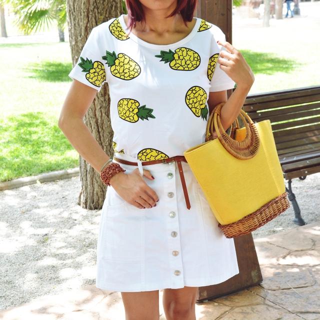 Falda y camiseta de piñas 6