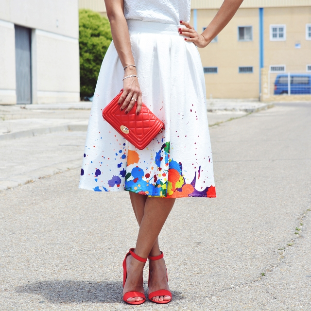 Look falda midi 12