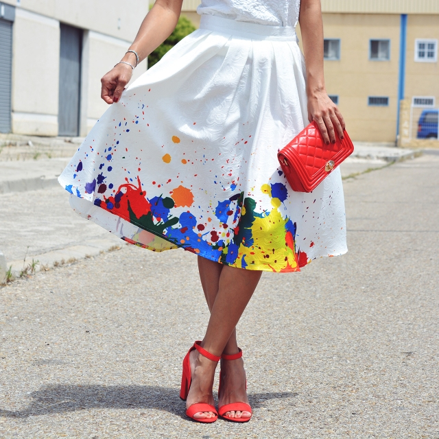 Look falda midi 13