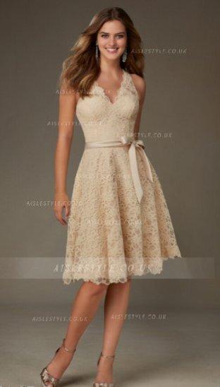 Vestido de encaje corto 1