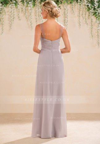 Vestido gris largo para invitada 2