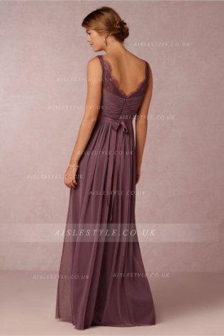 Vestido para dama de honor morado 2
