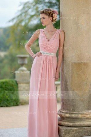 Vestido rosa largo para invitada de boda 1