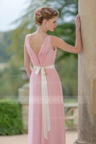 Vestido rosa largo para invitada de boda 2