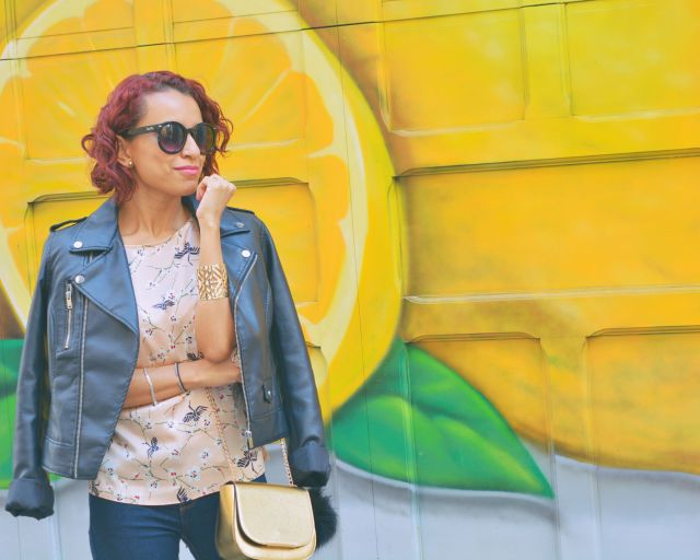 Look casual con biker