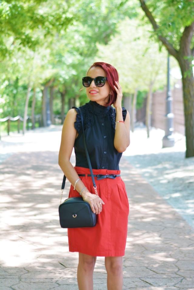 Mini falda roja