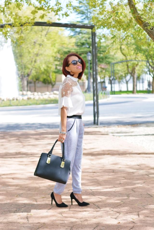 Outfit con pantalón jogging