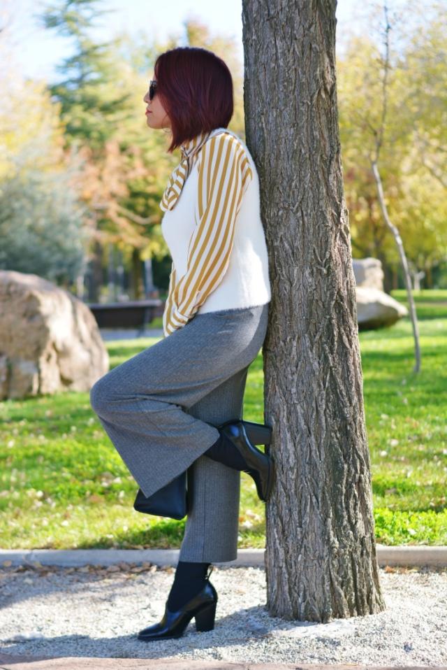 Outfit con botín calcetín Mango