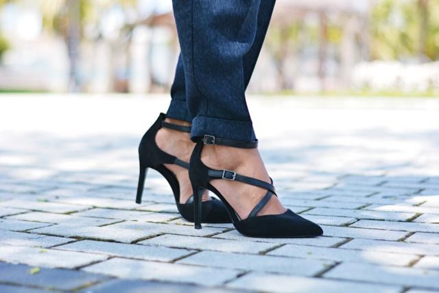 Zapatos con tiras negros Gabby SweetStyle